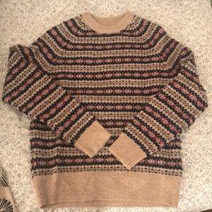 JCrew fair isle wool sweater